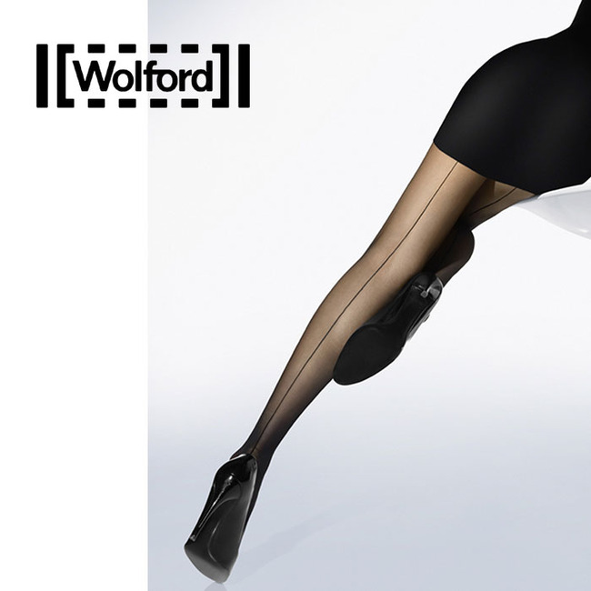 [WE18563B] IND.10 BLACKSEAM TIGHTS