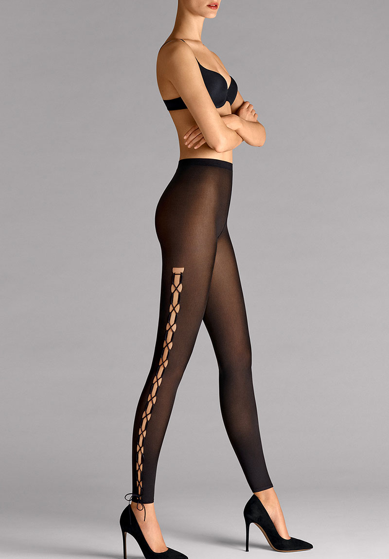 [WH14585T] LACE UP LEGGINGS